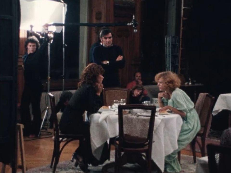 Michel Soutter avec Léa Massari et Delphine Seyrig sur le tournage de Repérages [RTS]