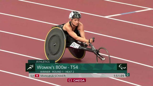 Paralympiques, athlétisme, qualifs 800m T54: Schaer (SUI) se qualifie facilement pour la finale [RTS]