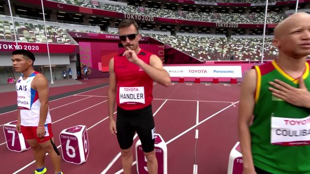 Paralympiques, athlétisme, qualifs 100m T13: Handler (SUI) finit 3ème [RTS]