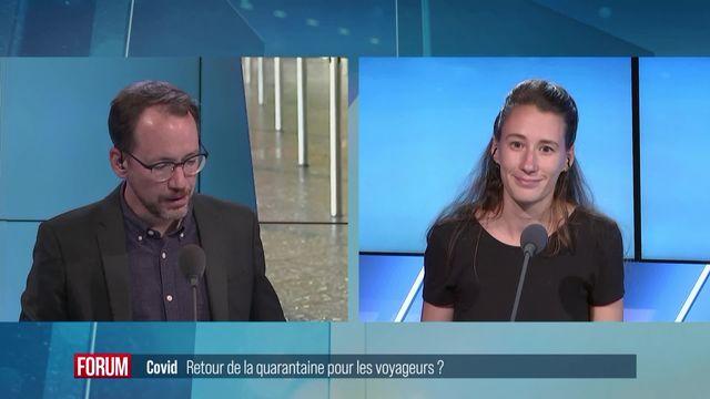 Alain Berset envisage de réintroduire une quarantaine de voyages en automne [RTS]