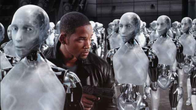 "Will Smith dans le film ""I robot"". [Photo12 via AFP]"