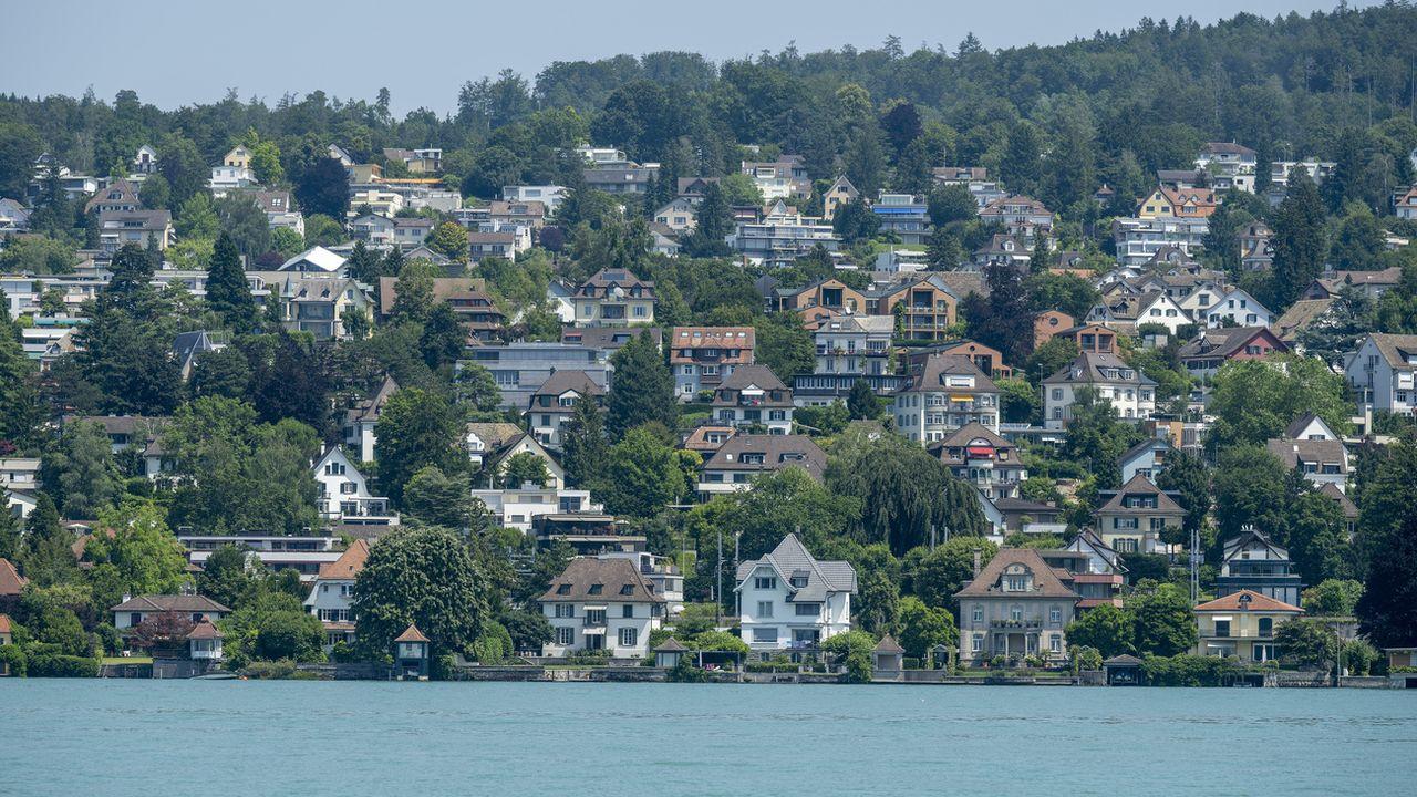 """Les marchés immobilier et hypothécaire sont """"très vulnérables"""", dit la BNS. [Christian Beutler - Keystone]"""