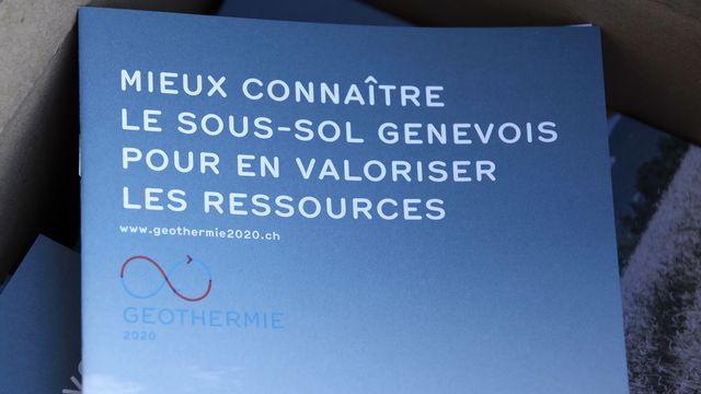 L'Etat et les Services industriels de Genève (SIG) lancent le 13 septembre une vaste campagne de prospection nocturne du sous-sol genevois. Le but est de localiser les endroits les plus favorables à l'exploitation de la géothermie. [SALVATORE DI NOLFI - KEYSTONE]