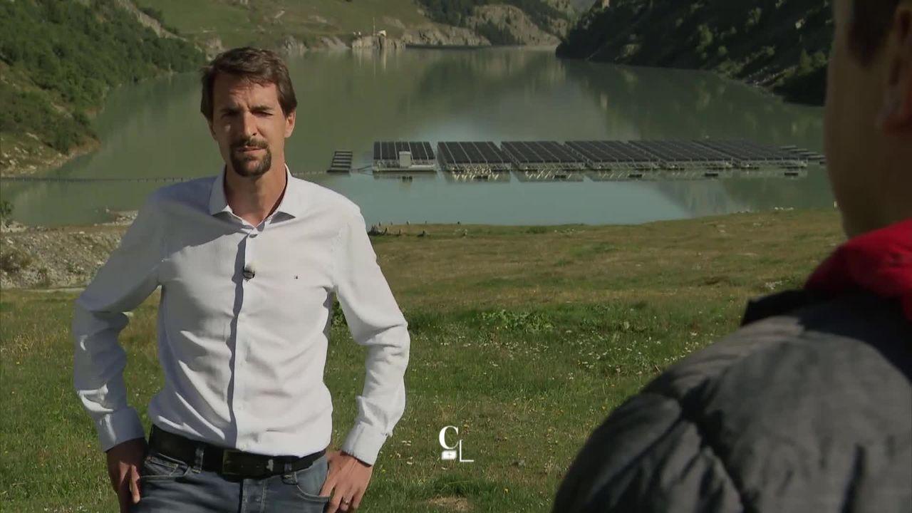 Entretien avec Maxime Ramstein, resp. projets énergies renouvelables, Romande Energie SA [RTS]
