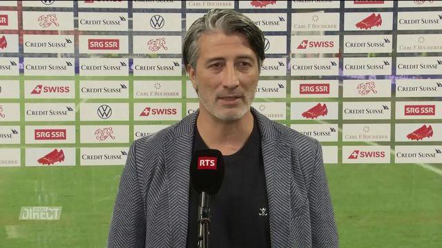 Suisse – Grèce (2-1): Murat Yakin à l'interview après sa première [RTS]
