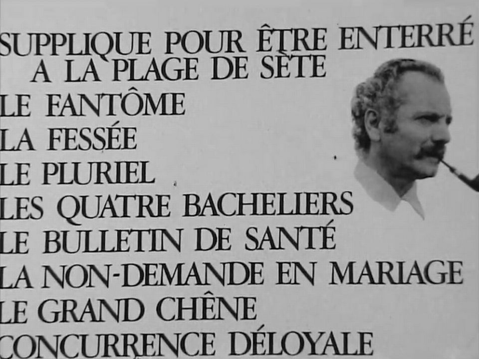 Titres de Georges Brassens. [RTS]