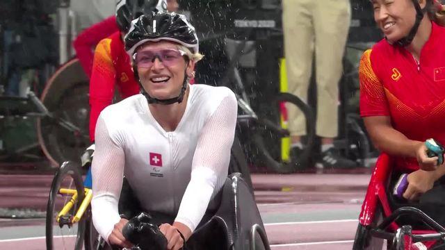 Paralympiques, athlétisme, 400m T54 féminin: M. Schär remporte la médaille d'or [RTS]