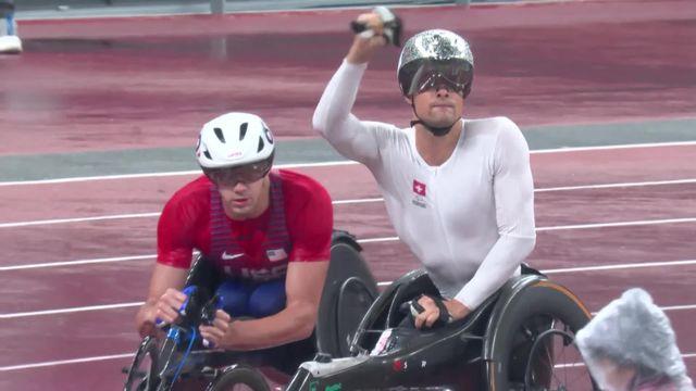 Paralympiques, athlétisme, 800m T54 messieurs: une nouvelle médaille d'or pour M. Hug (SUI) [RTS]
