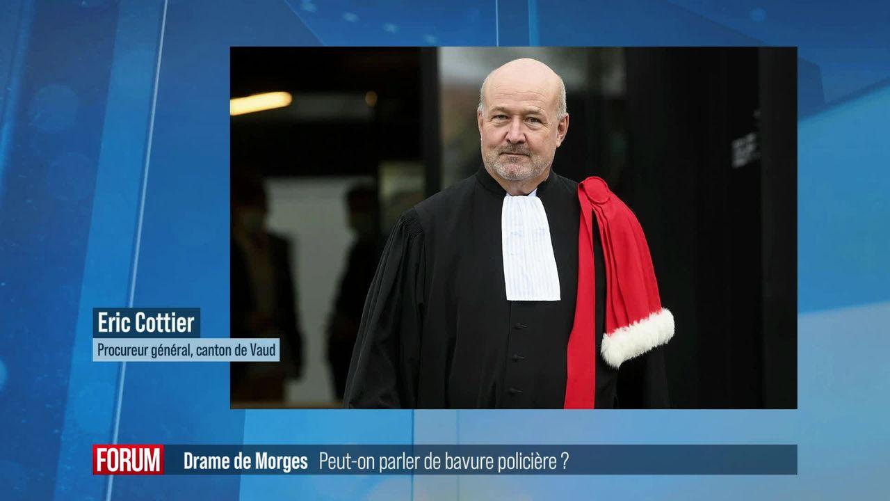 Meurtre à Morges: faut-il parler de bavure policière? Interview d'Eric Cottier (vidéo) [RTS]