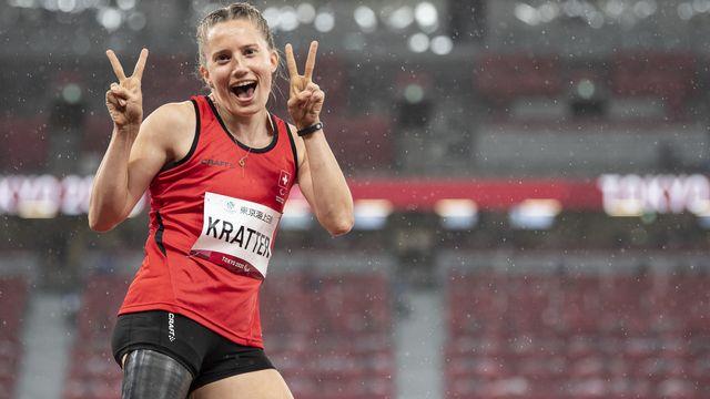 Kratter s'est classée 3e du concours de la longueur avec un bond à 5m01. [Ennio Leanza - Keystone]