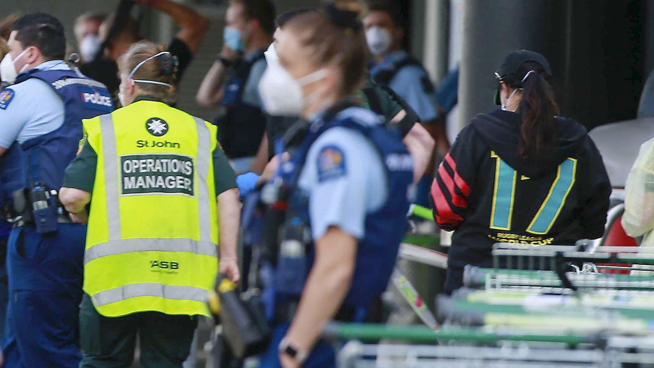 Un terroriste a poignardé six personnes dans un supermarché d'Auckland. [Alex Burton - Keystone/AP]