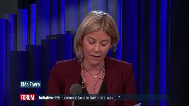 Initiative 99%: comment répartir l'impôt entre le travail et le capital? (vidéo) [RTS]