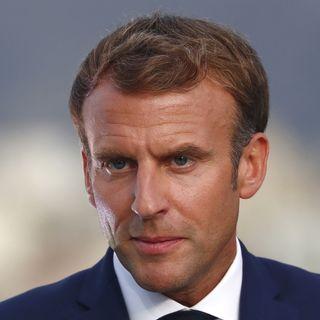 Emmanuel Macron lors de sa visite à Marseille.  [Guillaume Horcajuelo - Keystone]