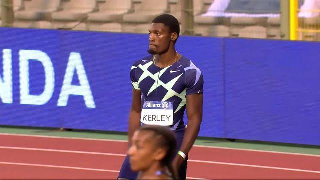 Mémorial Van Damme (BEL), 100m messieurs : F. Kerley (USA) gagne devant ses deux compatriotes [RTS]