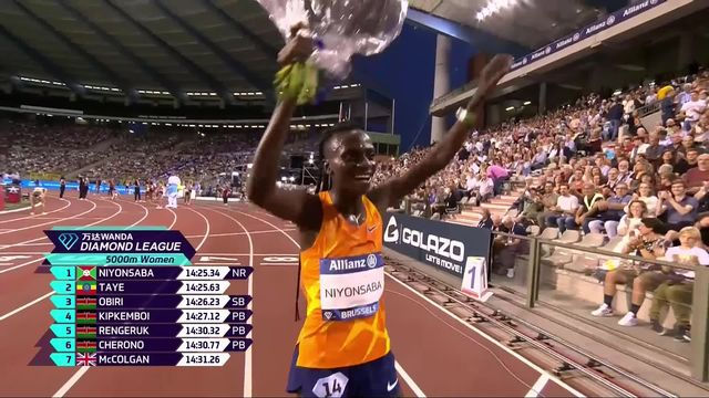 Mémorial Van Damme (BEL), 5000m dames : victoire de F. Niyonsaba (BDI) [RTS]