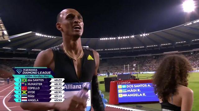 Mémorial Van Damme (BEL), 400m haies messieurs : A. dos Santos (BRE) victorieux [RTS]