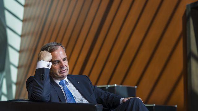 Gerhard Pfister, alors député au parlement zougois, n'avait pas été blessé lors de l'attentat au parlement survenu le 27 septembre 2001. Mais il se rappelle. [Alessandro della Valle - Keystone]