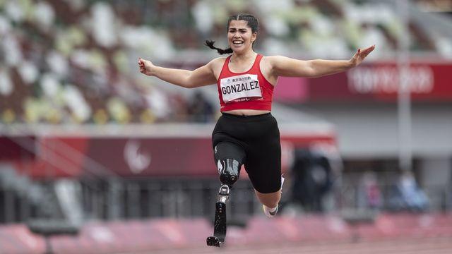 Sofia Gonzalez a réalisé son rêve en atteignant la finale du 100m. [Ennio Leanza. - Keystone]