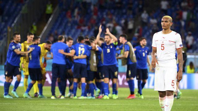 L'équipe de Suisse aura coeur a prendre sa revanche de la nette défaite concédée face à l'Italie à l'Euro 2020. [Jean-Christophe Bott - Keystone]