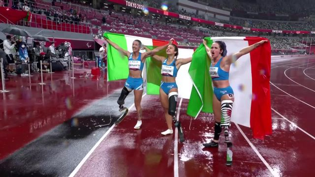 Paralympiques, athlétisme, 100m T63 dames: Sofia Gonzalez et Elena Kratter aux 7 et 5e places, triplé italien! [RTS]