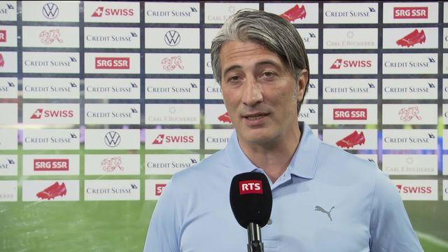 Gr. C, Suisse - Italie (0-0): interview du sélectionneur Suisse Murat Yakin [RTS]