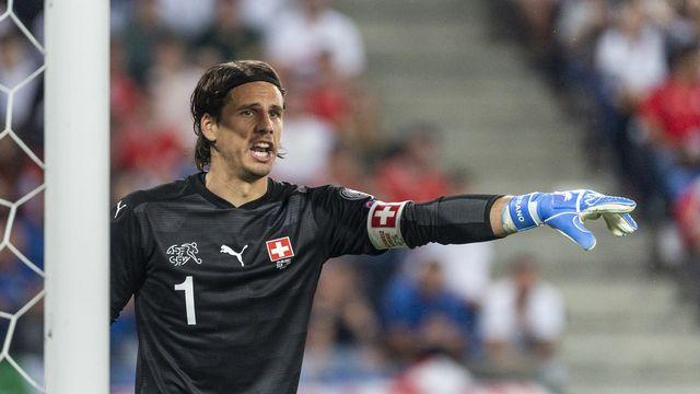 Yann Sommer s'est montré décisif face aux champions d'Europe italiens. [Jean-Christophe Bott - Keystone]