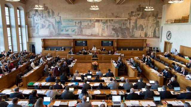 La salle du Grand Conseil bernois (ici en décembre 2017). [Anthony Anex - Keystone]