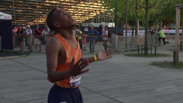 Weltklasse, 5000m messieurs: Berihu Aregawi (ETH) s'impose, Jonas Raess termine 7e [RTS]