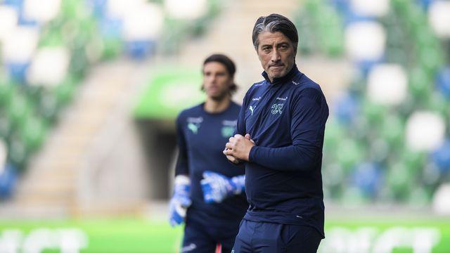 Le sélectionneur de l'équipe de Suisse effectue 4 changements par rapport au match contre l'Italie. [Gian Ehrenzeller - Keystone]