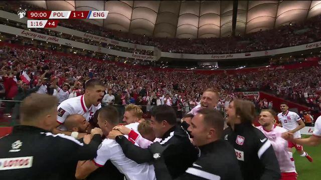 Gr.I, Pologne – Angleterre (1-1): les Three Lions repris dans les derniers instants du match [RTS]