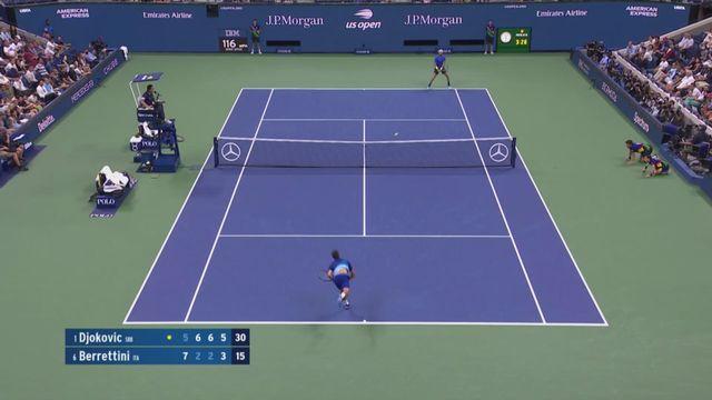 Tennis: Novak Djokovic bat Matteo Berrettini en quarts de finale de l'US Open [RTS]