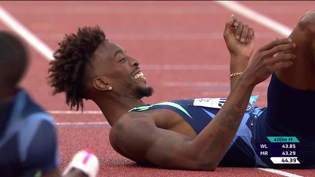 Finale, 400m messieurs:  victoire de Cherry (USA), Petrucciani (SUI) termine 7e [RTS]