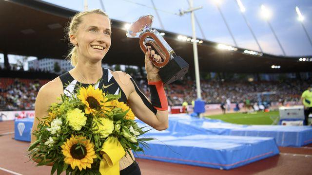 Sidorova a arrêté son concours après avoir passé 5m01. [Jean-Christophe Bott - Keystone]