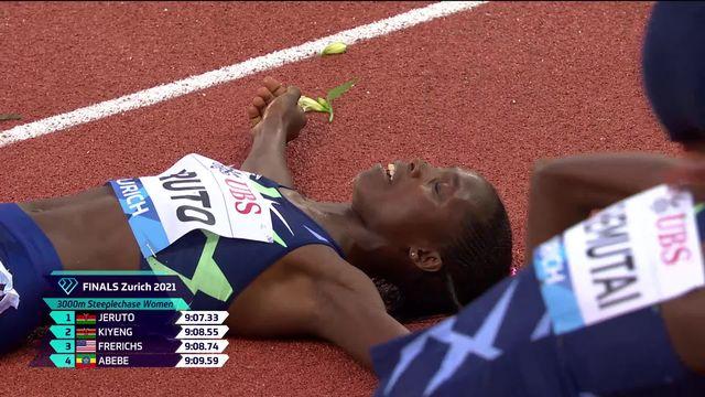 Finale, 3000m steeplechase dames: victoire de Jeruto (KEN) [RTS]