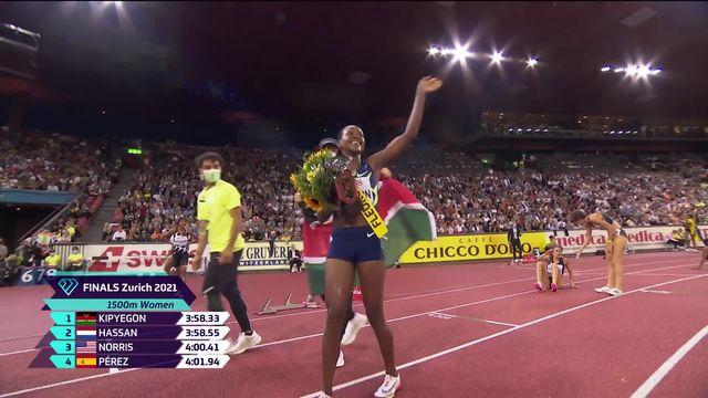 Finale, 1500m dames: Kipyegon (KEN) bat sur le fil Hassan (NED) [RTS]