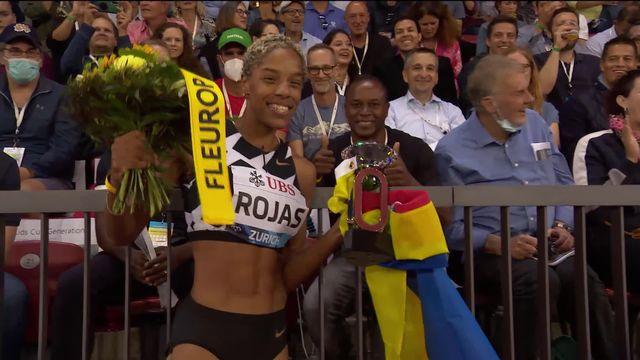 Finale, triple saut dames: Rojas (COL) remporte le titre et manque pour 19 centimètres le record mondial [RTS]
