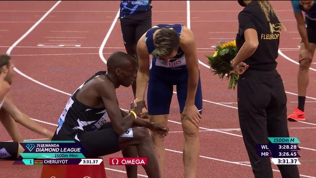 Finale, 1500m messieurs: Cheruiyot (KEN) remporte suon duel devant Ingebrigtsen (NOR) [RTS]