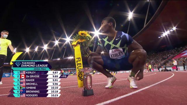 Finale, 100m messieurs: Kerley (USA) s'impose, Wicki (SUI) finit 8e [RTS]