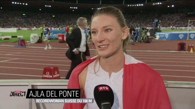 Finale, 100m dames: Del Ponte (SUI) à l'interview après sa 3e place [RTS]