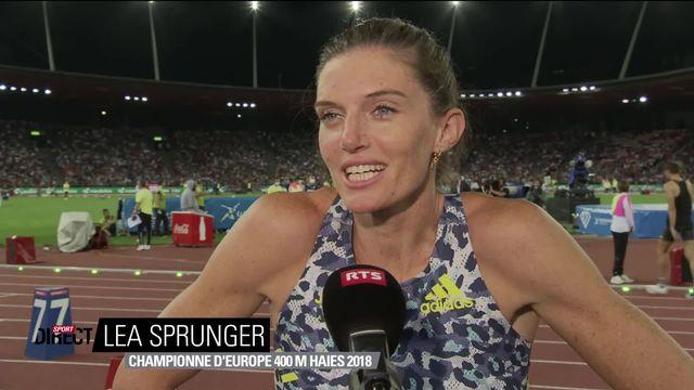 Finale, 400m haies dames: Léa Sprunger (SUI) mitigée au micro de la RTS [RTS]