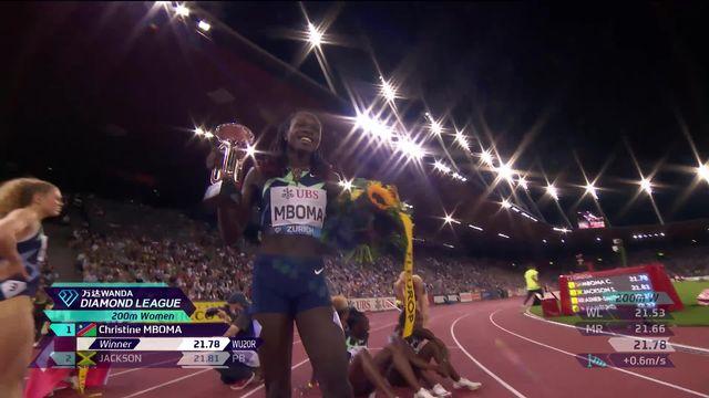 Finale, 200m dames: victoire de Mboma (NAM), Mujinga Kambundji (SUI) termine 4e [RTS]