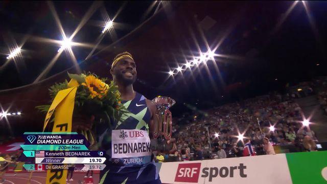 Finale, 200m messieurs: Bednarek (USA) remporte la course, Reais (SUI) finit 8e [RTS]