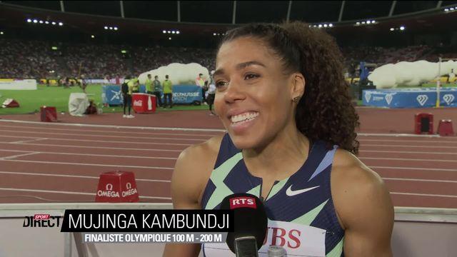 Finale, 200m dames: l'interview de Mujinga Kambundji (SUI) après sa 2e course [RTS]