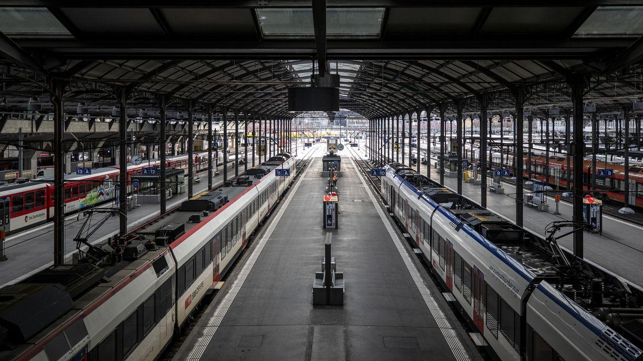 Vue de la gare de Lucerne. [Alexandra Wey - Keystone]