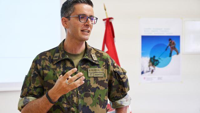 Noel Pedreira: La lente mue de lʹaumônier militaire. [©Aumônerie de l'armée suisse ]