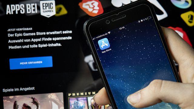 Opposé à Epic Games, Apple n'est pas considéré comme un monopole mais doit faciliter la concurrence. [Fabian Sommer - Keystone]