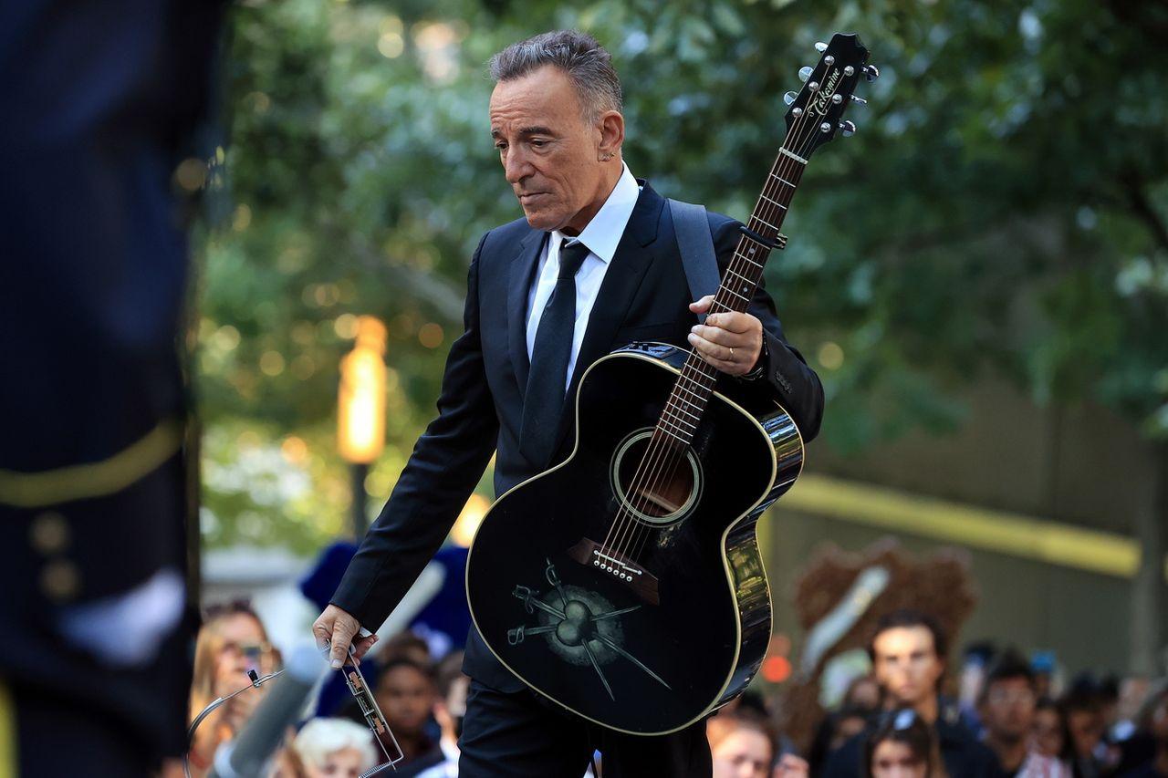 Bruce Springsteen a chanté lors de la cérémonie de commémoration du 11-Septembre. [Chip Somodevilla  - EPA/Keystone]