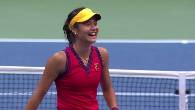 Finale dames, E. Raducanu (GBR) - L. Fernandez (CAN) (6-4, 6-3): la jeune Britannique remporte son 1er grand chelem [RTS]