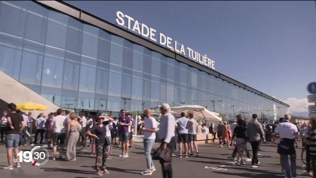Le Lausanne-Sport a inauguré son stade de la Tuilière ce dimanche face au FC Sion. [RTS]