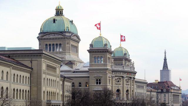 Le palais fédéral, à Berne. [Lukas Lehmann - Keystone]